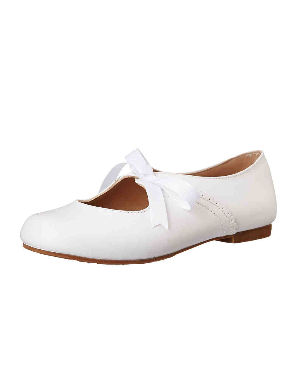 white flower girl shoes with bow