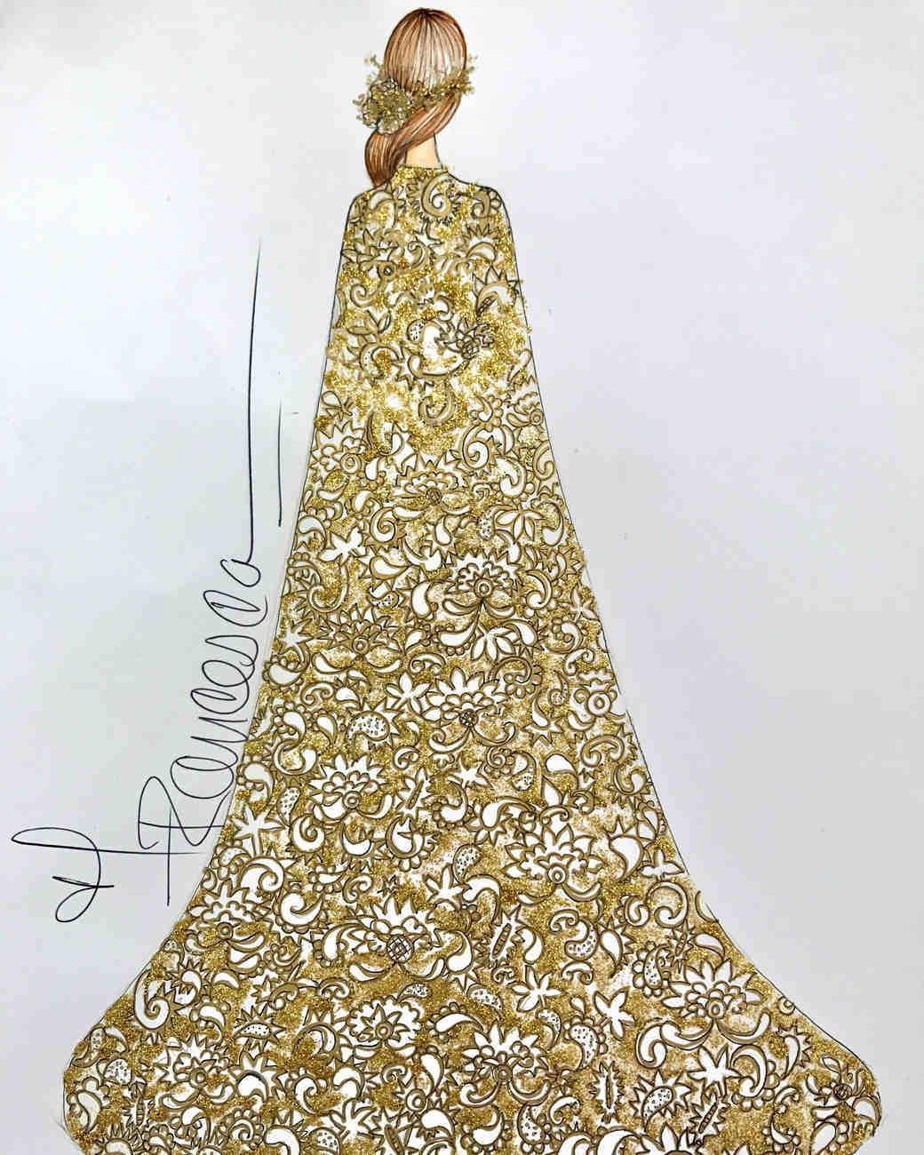 francesca miranda wedding dress sketch