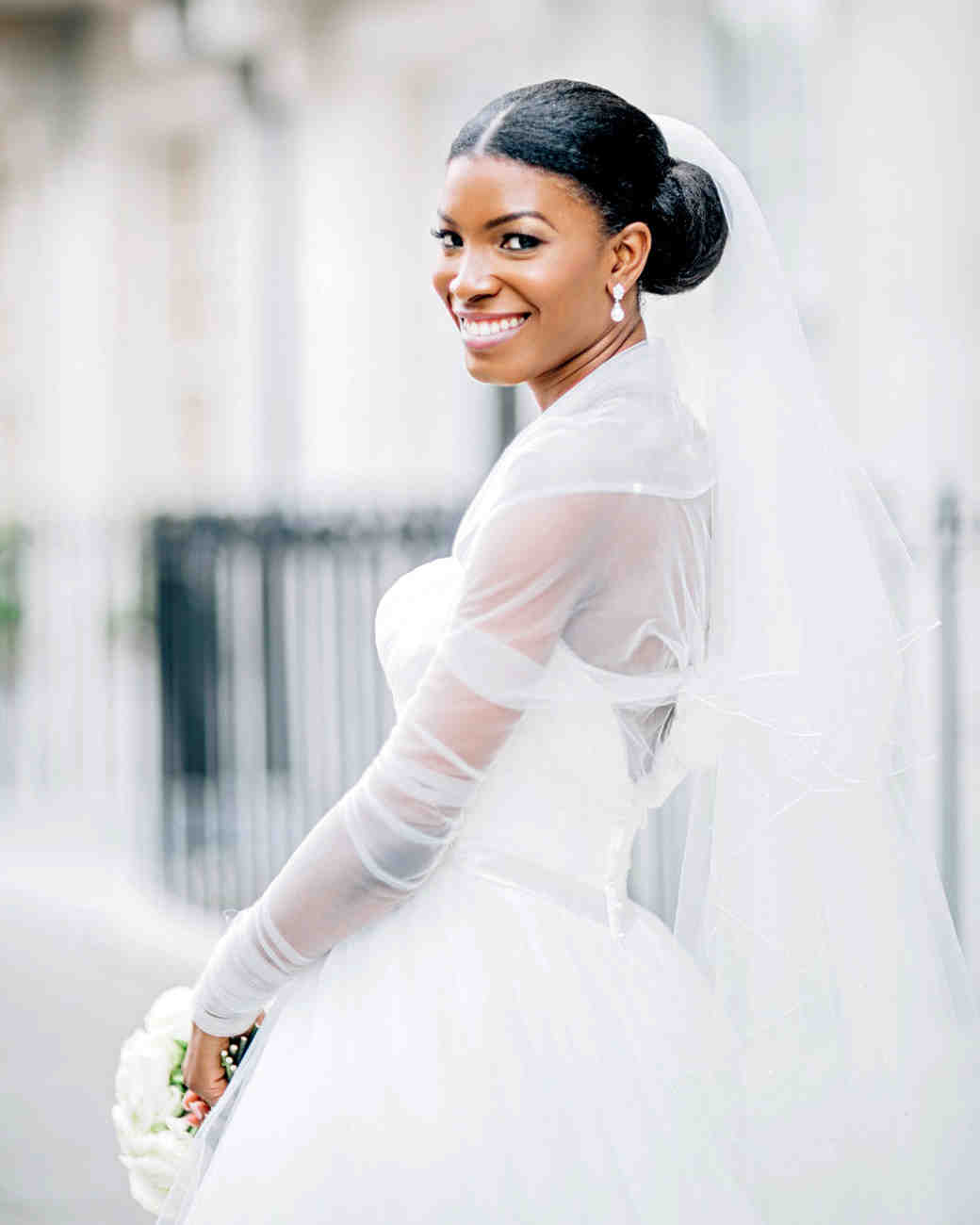 The Best Hairstyles for Every Wedding Dress Neckline | Martha ...