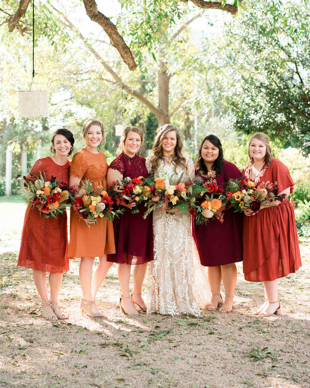 hayleigh corey wedding bridesmaids and bride