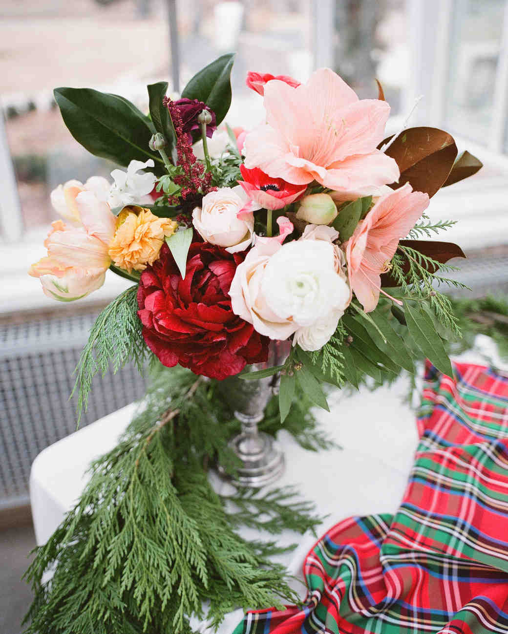 29 festive ideas for a christmas wedding martha stewart weddings junglespirit Image collections