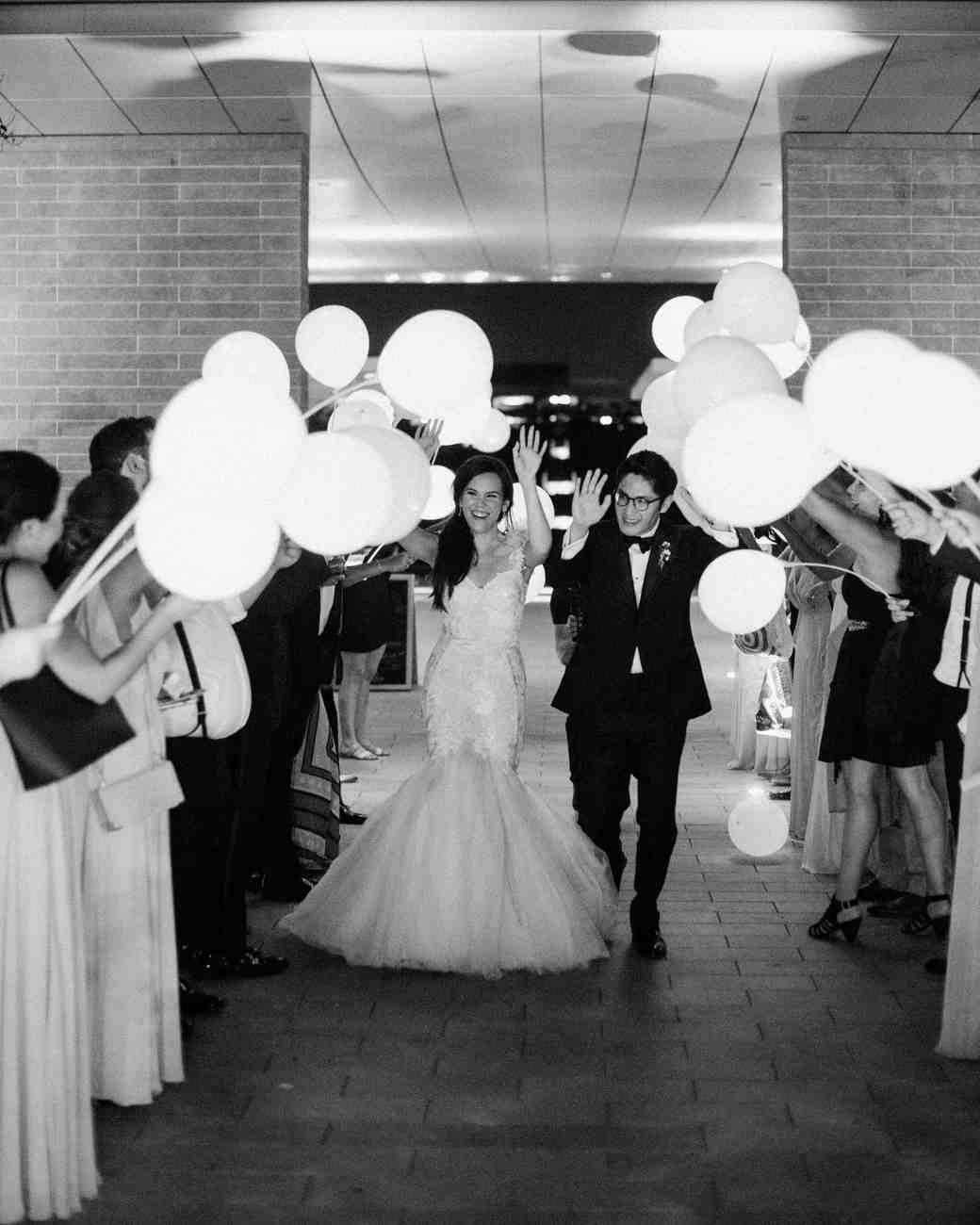 texas wedding black white exit
