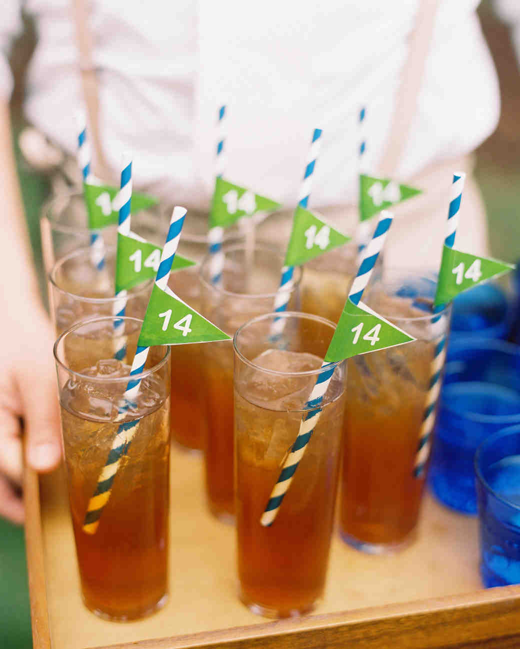 kendall nick wedding drinks with straws