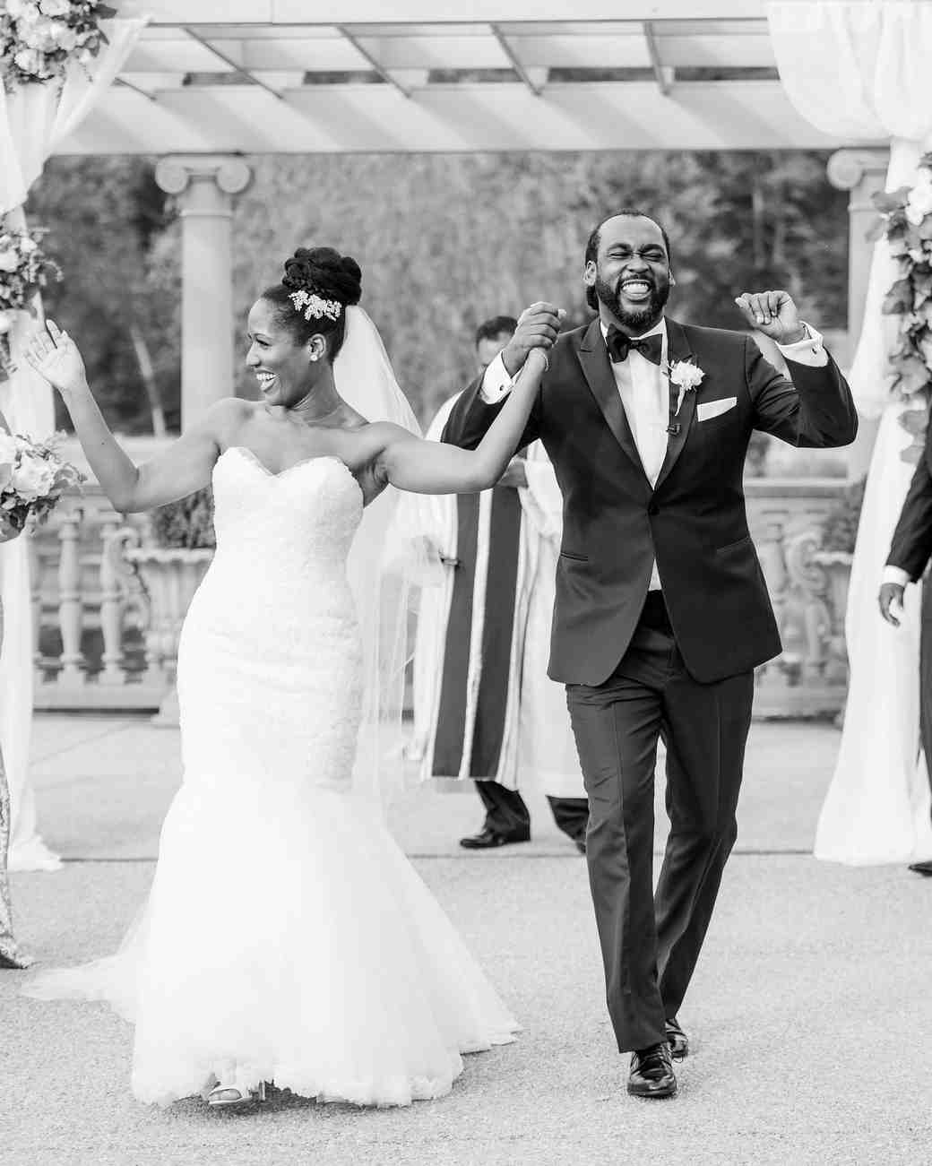kenisha wendall wedding couple ceremony just married