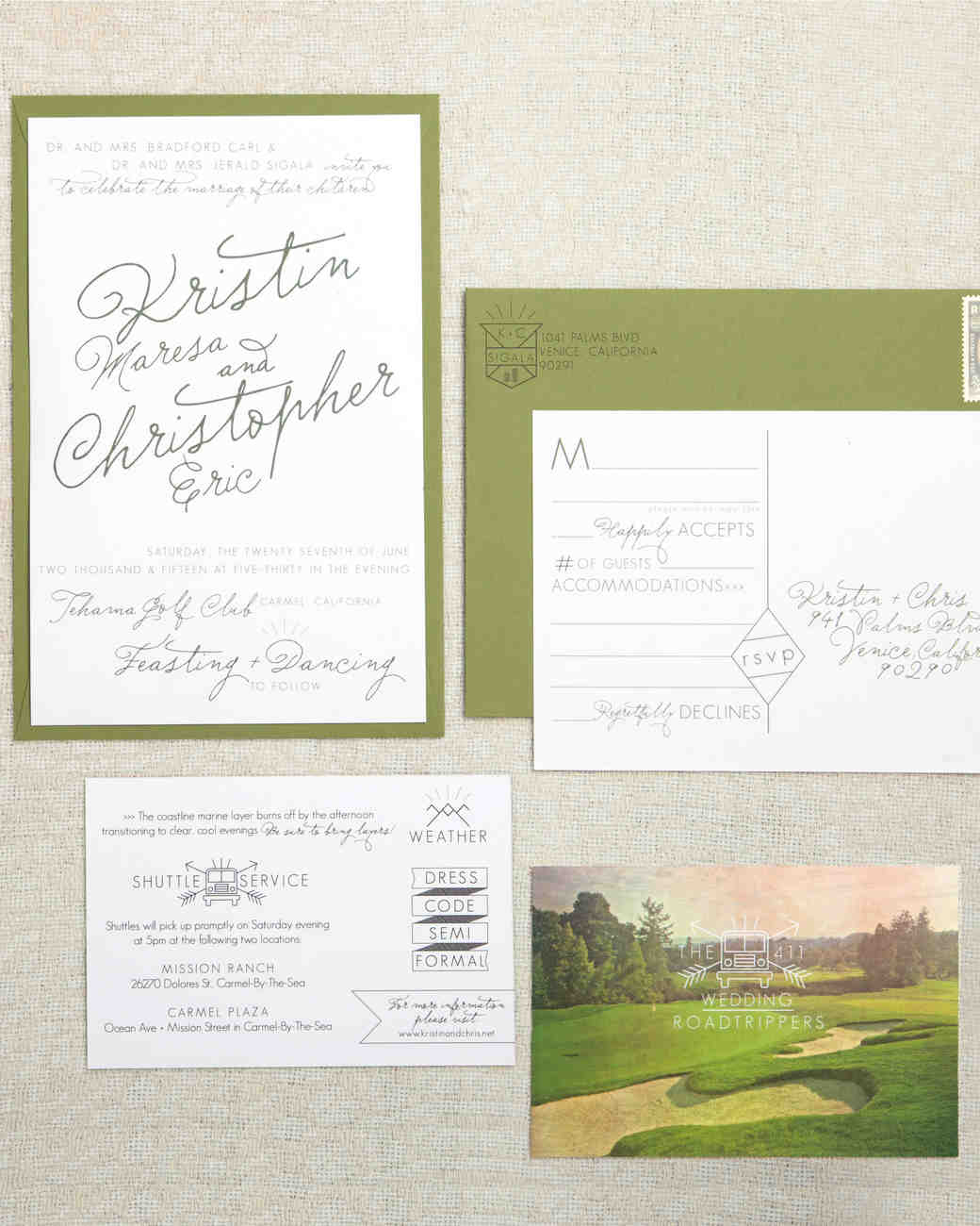 Wedding Stationery That Isn\'t Girly | Martha Stewart Weddings