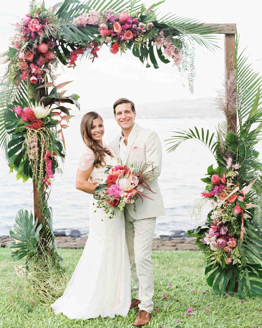 Martha Stewart Weddings: A Casual Beach Wedding In Puako, Hawaii