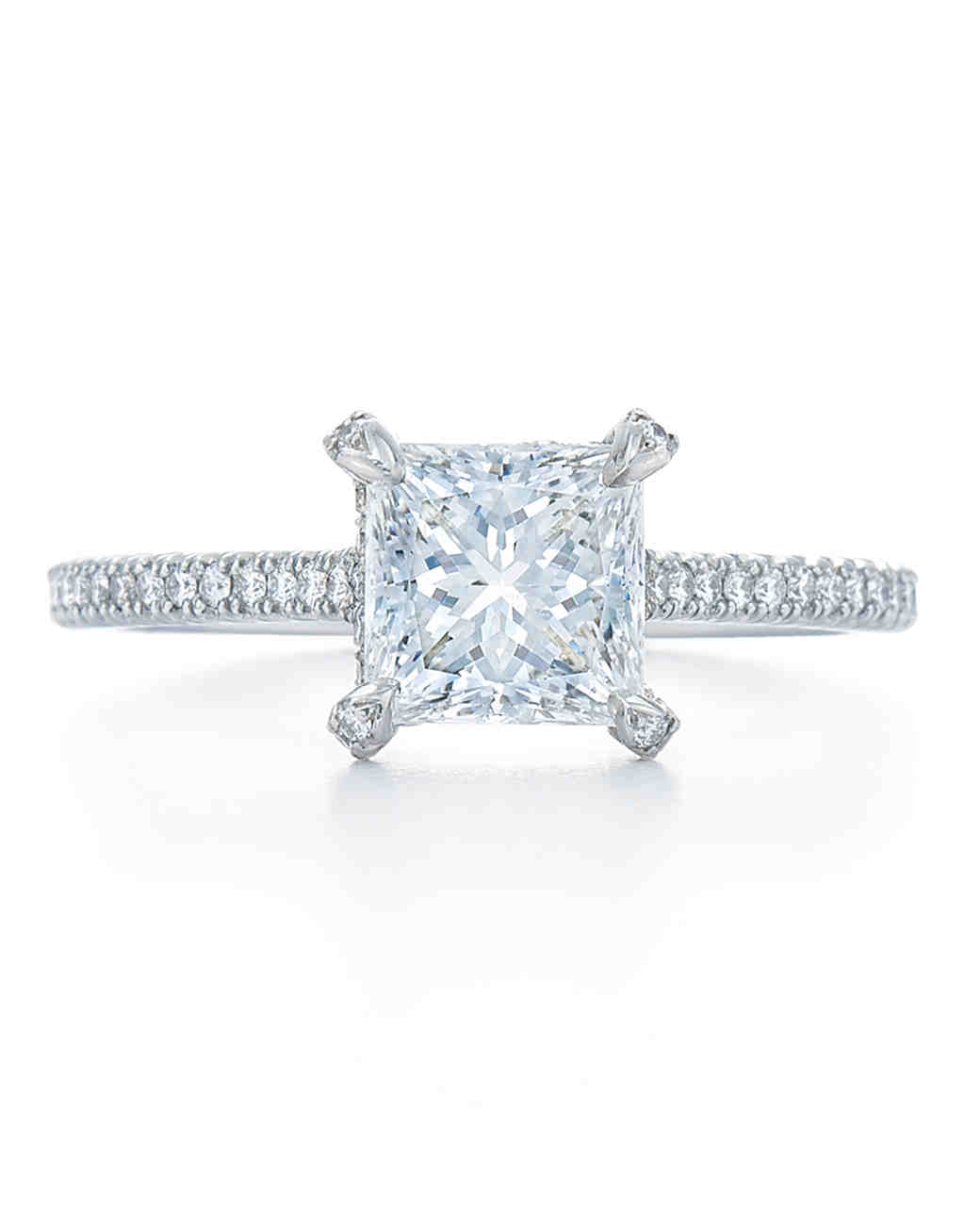 PrincessCut Diamond Engagement Rings Martha Stewart Weddings