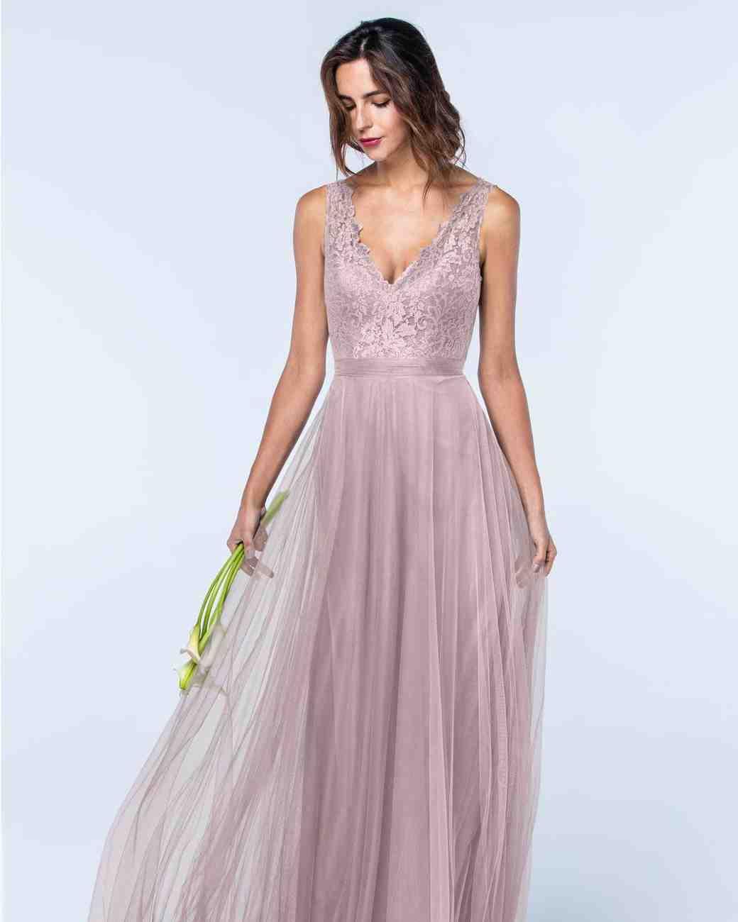 Lac Dress with Sash Bridesmaids