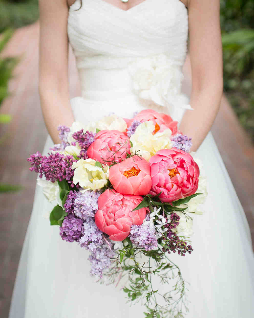 Pink, White, and Purple Lilac Bouquet