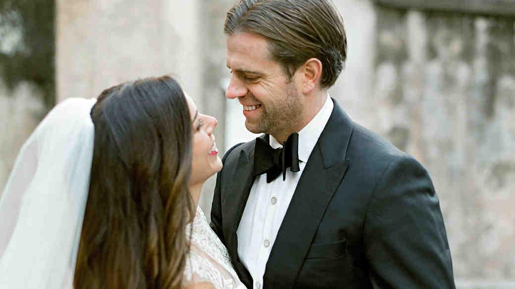 lindsay evan wedding bride and groom embrace