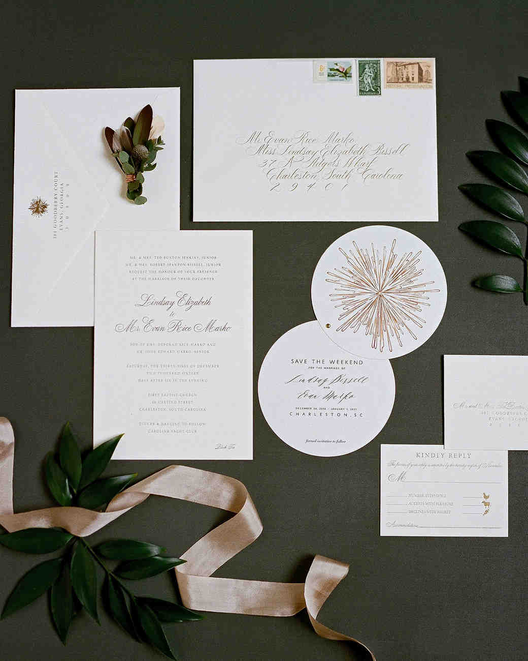 lindsay evan wedding stationery