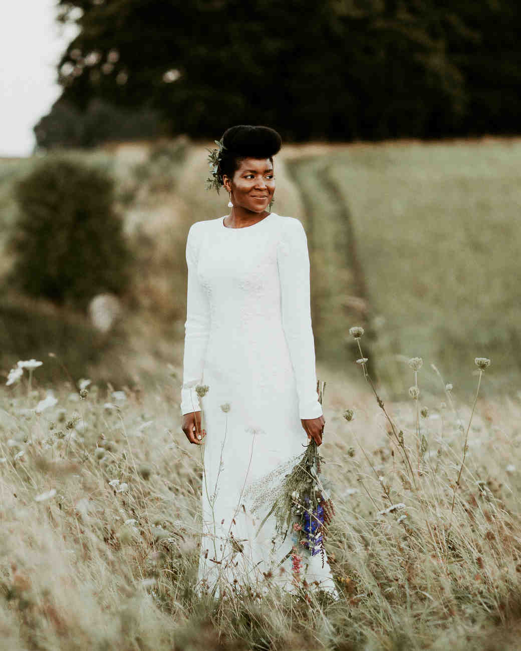 Real Brides Wearing Long-Sleeved Wedding Dresses | Martha Stewart ...
