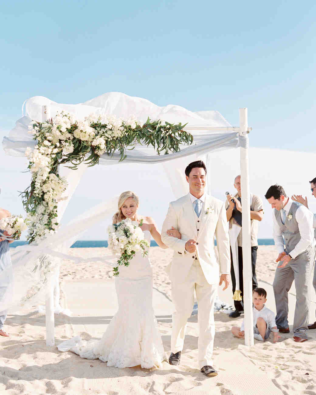 Beach Wedding Ceremony Processional: A Relaxing, Ocean-Front Wedding In Cabo