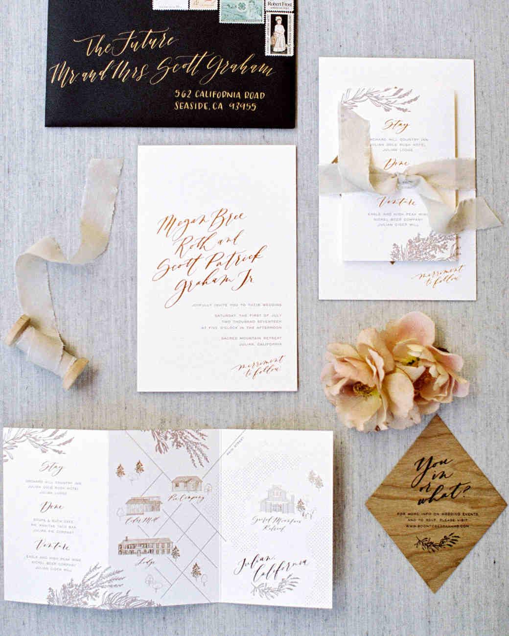 megan scott wedding stationery