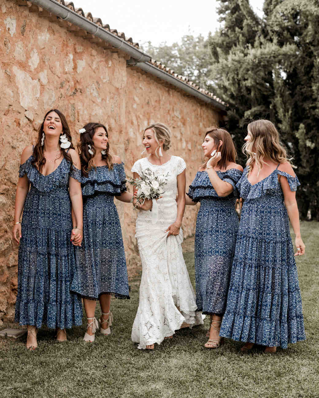 5038e54234b3 28 Mismatched Bridesmaids Dresses from Real Weddings - Best Mix and Match Bridesmaids  Dresses