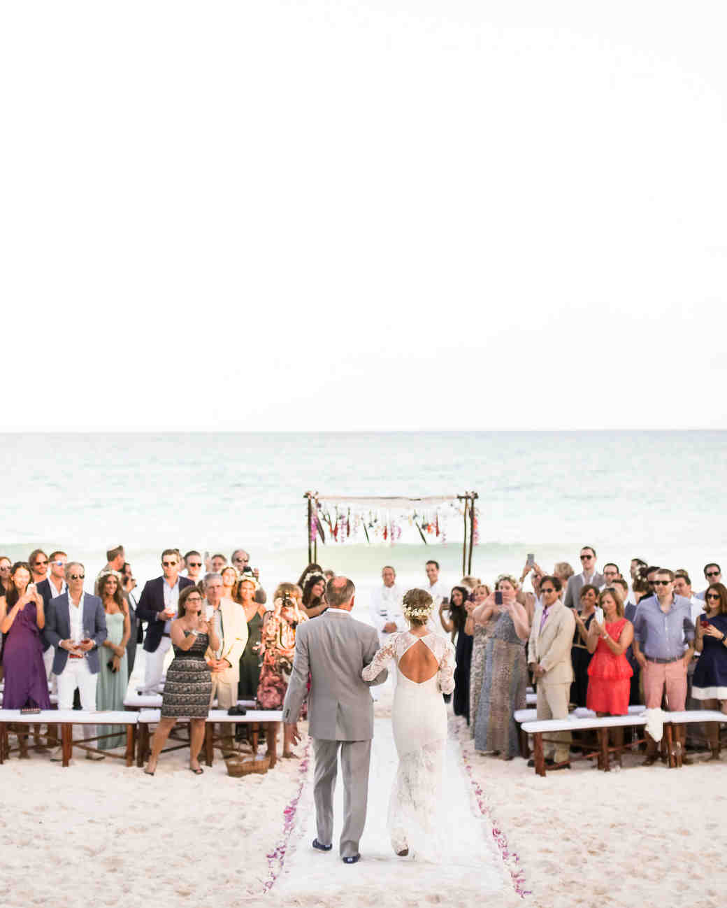 Olivia and Keith\'s Dia de los Muertos Beach Wedding | Martha Stewart ...