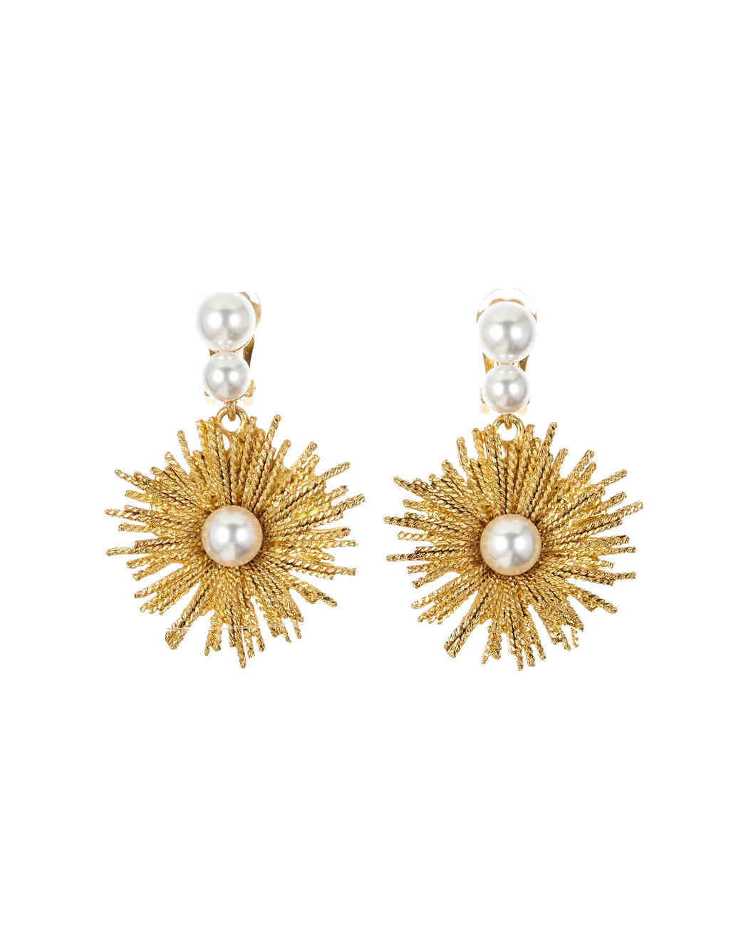 pearl wedding earrings oscar de la renta