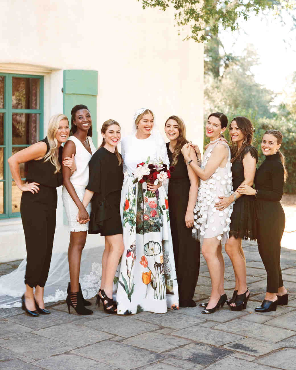 41 reasons to love the mismatched bridesmaids look martha black bridesmaid dresses and jumpsuits ombrellifo Choice Image