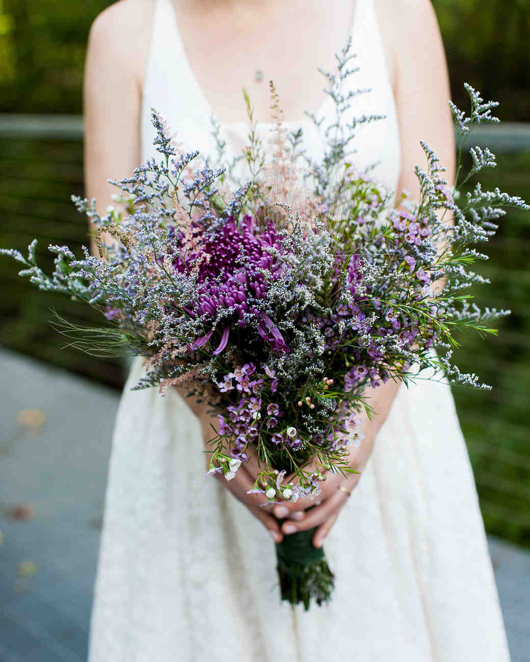 bouquet with lavender and greenery