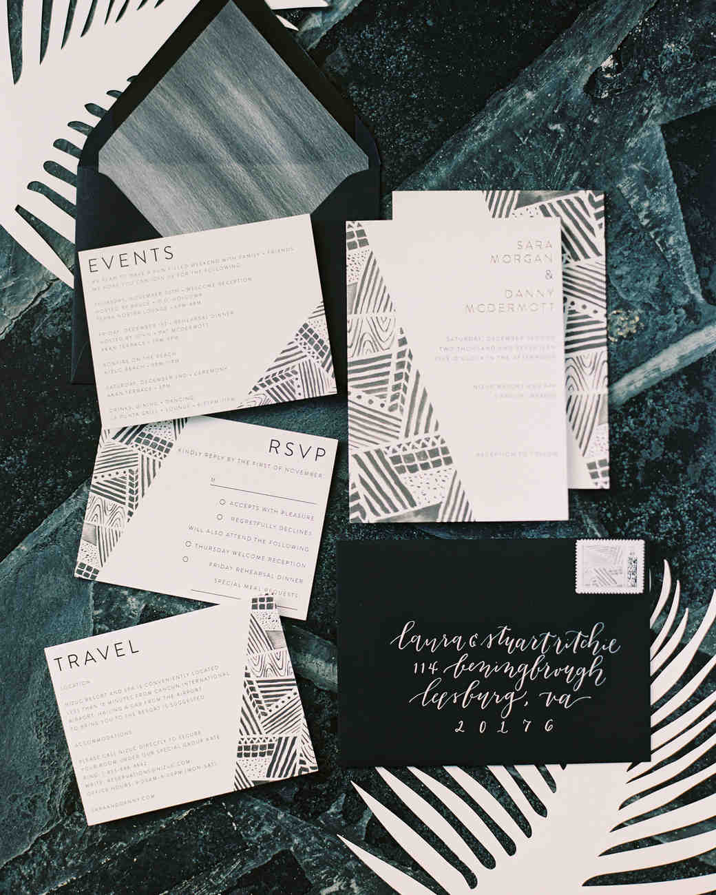 sara danny mexico wedding invitation suite