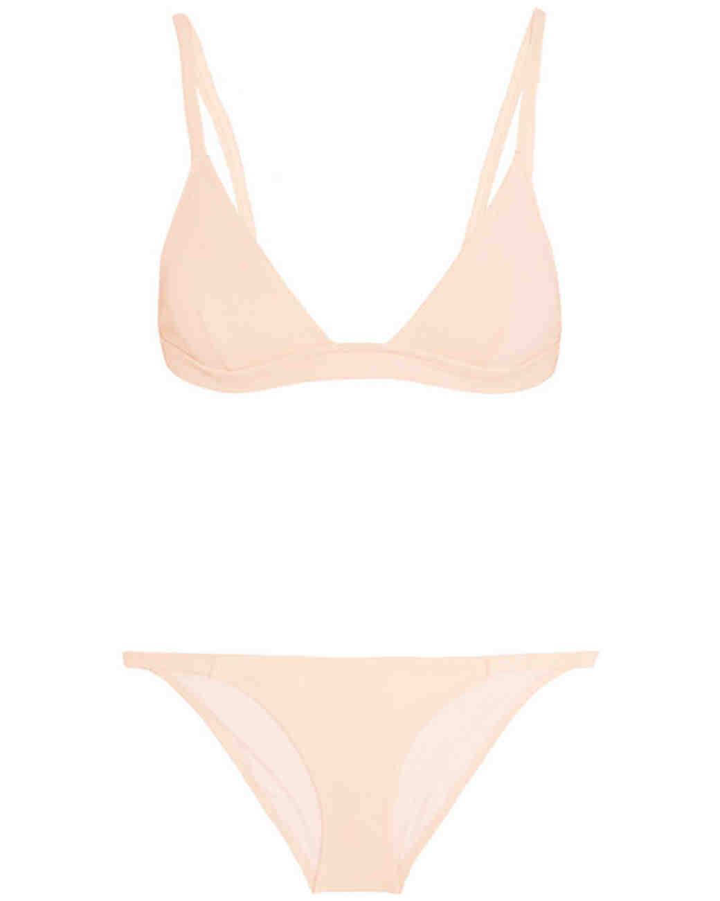 Cream Triangle Bikini