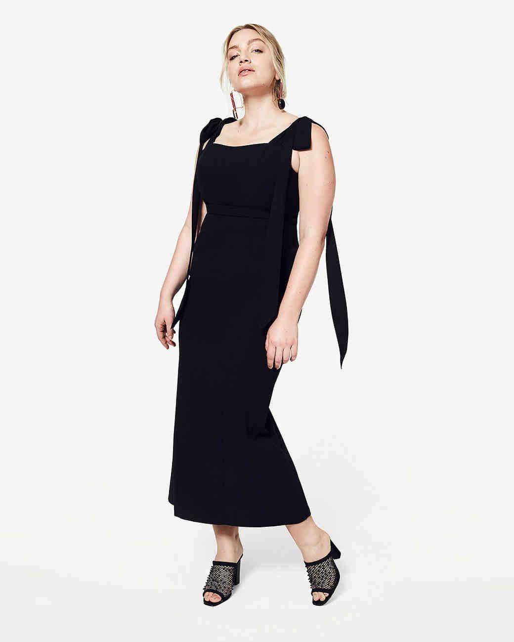 Milf ol in black long dress