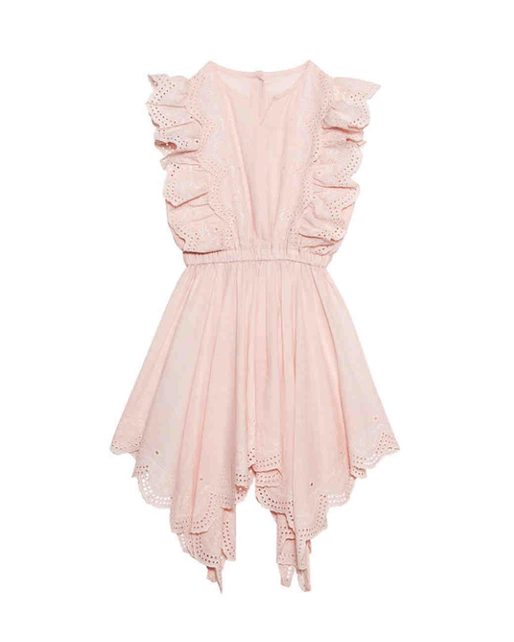summer flower girl dress pink ruffles sleeves