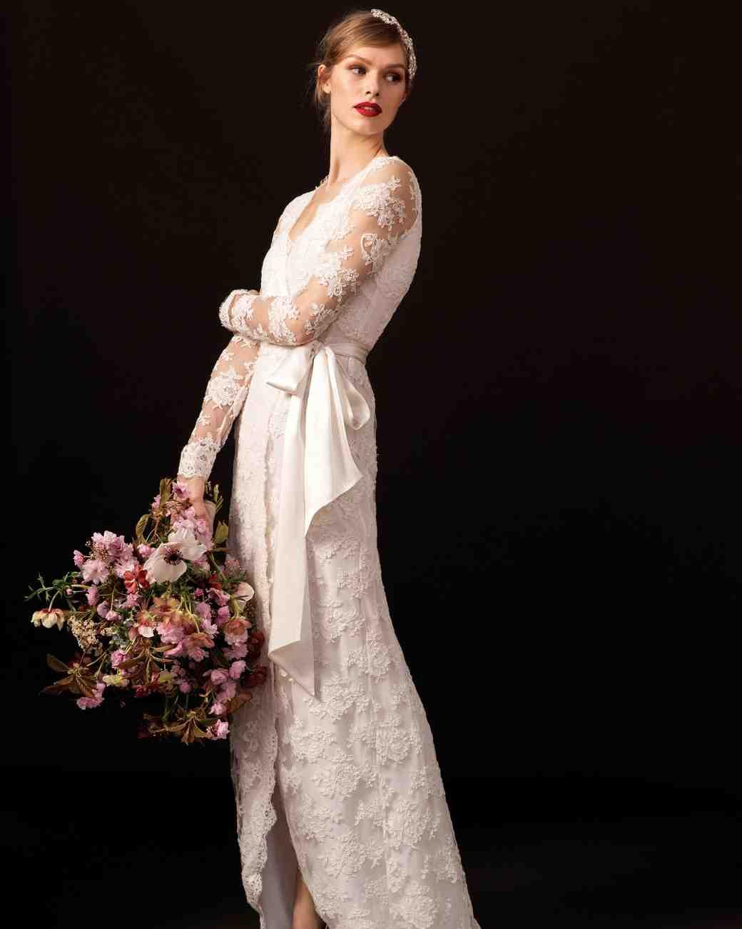 temperley lace sleeve wedding dress spring 2018
