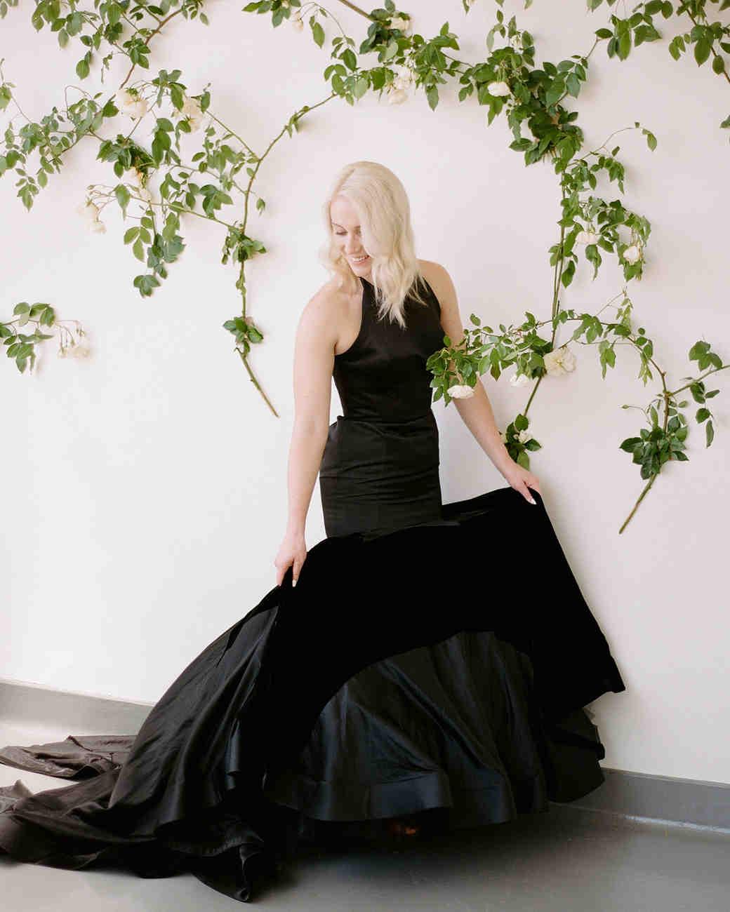 unique wedding color palettes black wedding dress