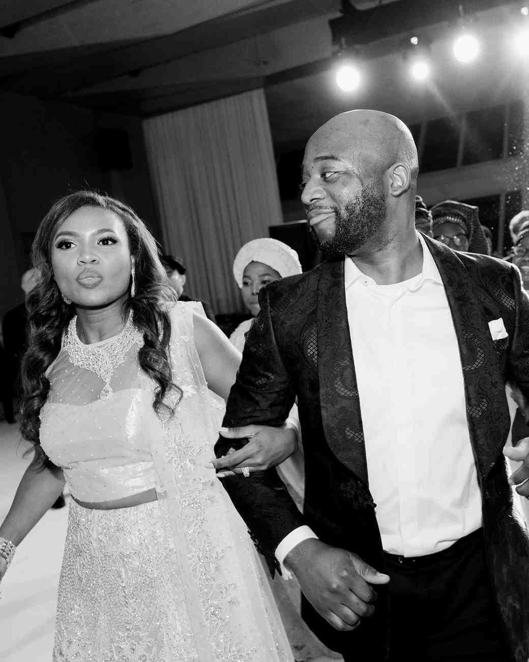 vanessa abidemi wedding couple at reception