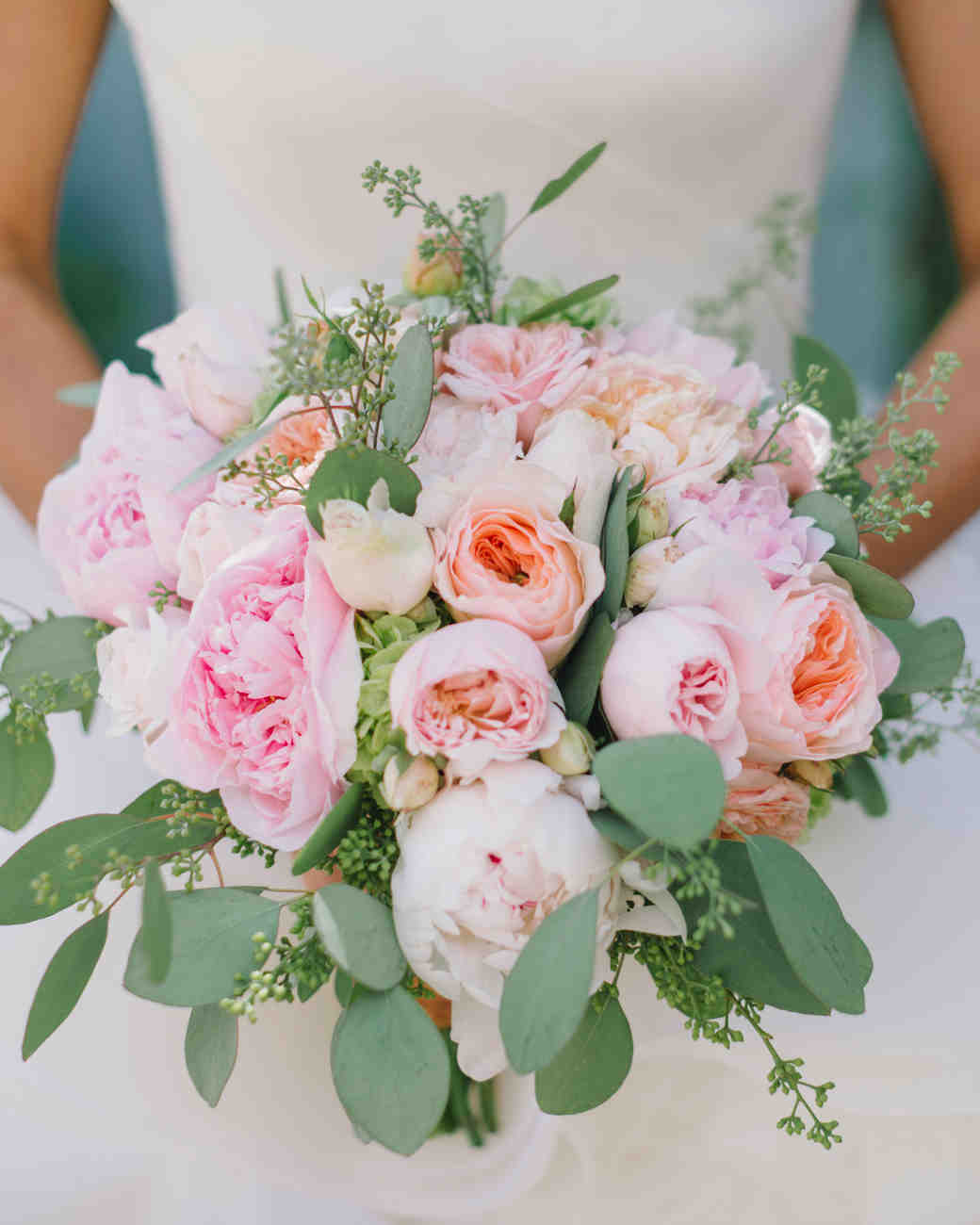 blush and peach wedding bouquet - Garden Rose And Peony Bouquet