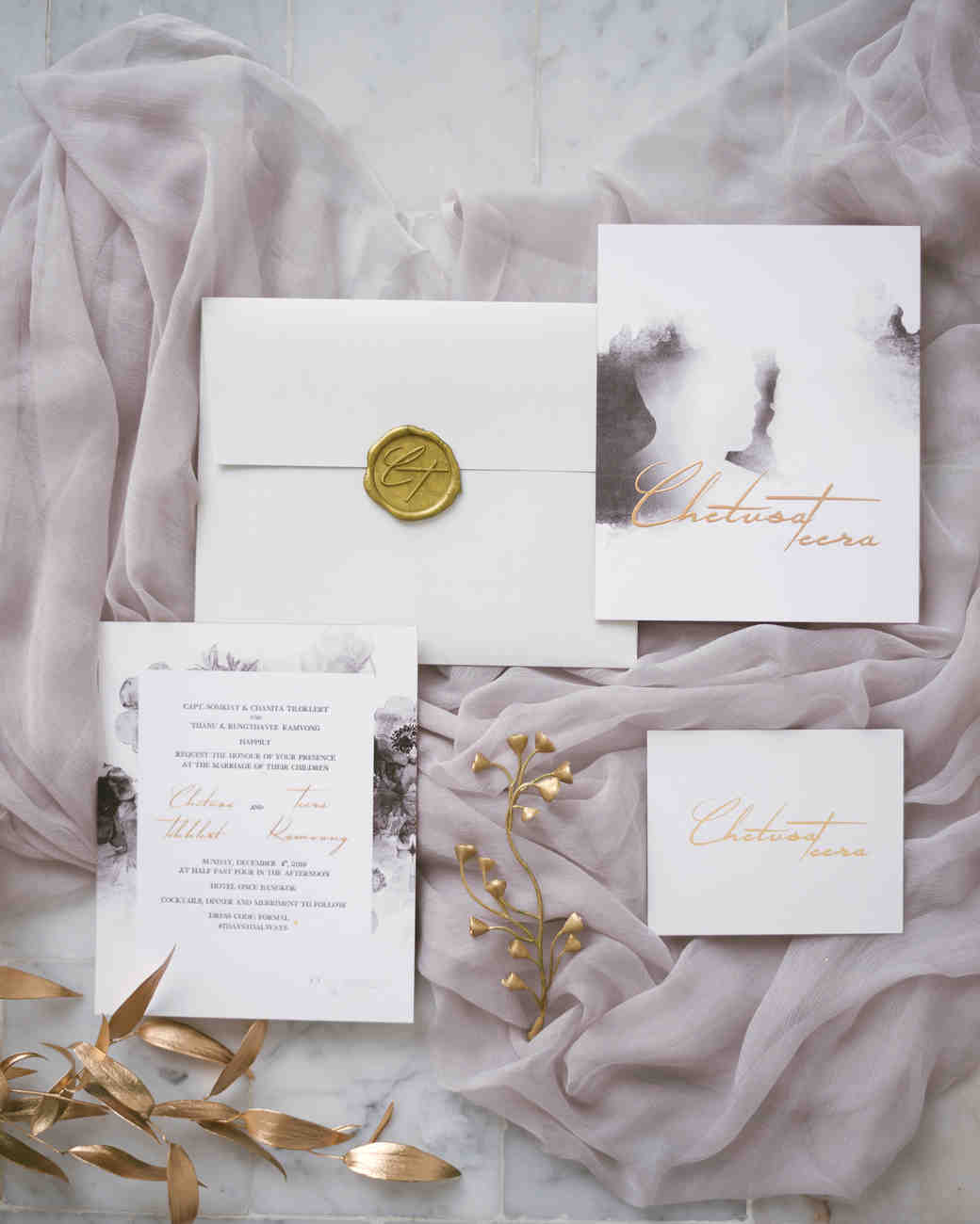 0c128d06b210 Gorgeous Wedding Invitations with Wax Seals