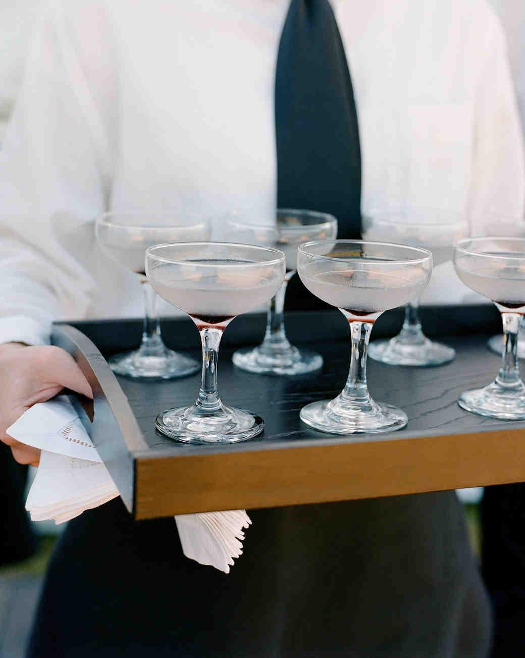 whitney zach wedding cocktails gin and creme de violette