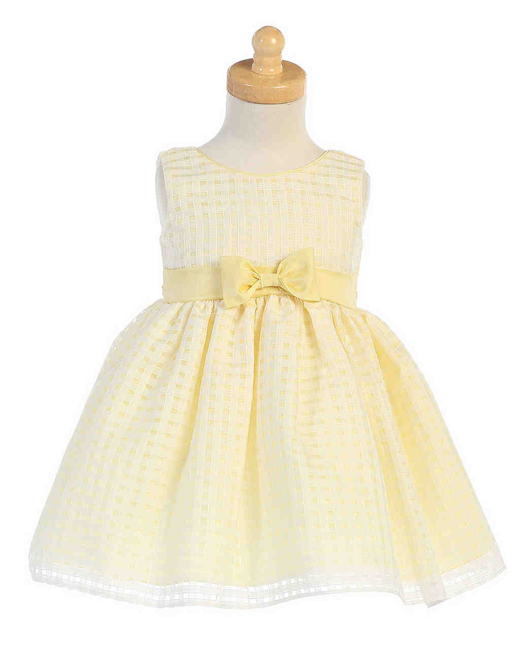 yellow flower girl dress bow
