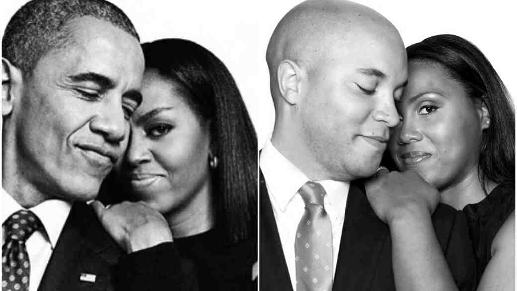 Barack and Michelle Obama-inspired engagement photo shoot
