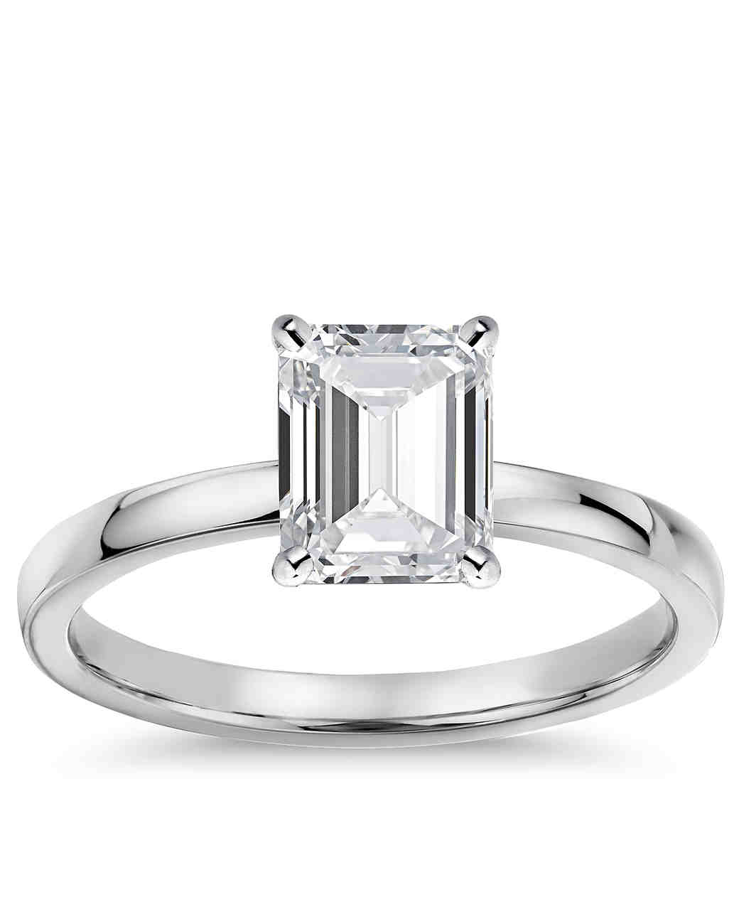 elegant emerald cut engagement rings martha stewart weddings. Black Bedroom Furniture Sets. Home Design Ideas