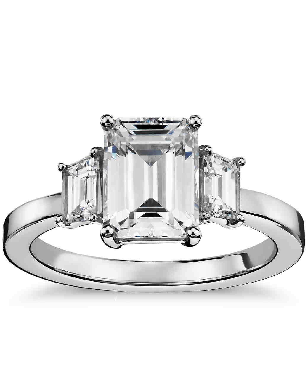 watch carat stone side engagement ring youtube rings emerald cut