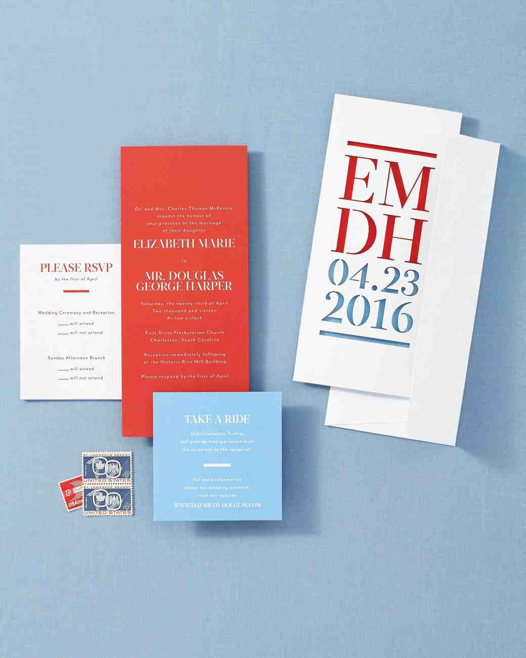 8 Chic Ways to Incorporate Red and Blue Wedding Colors | Martha ...