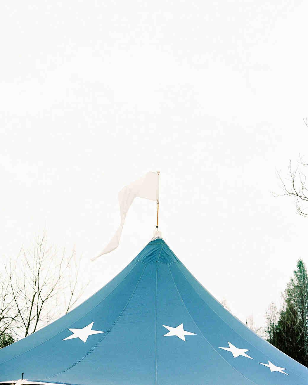 wedding tent stars