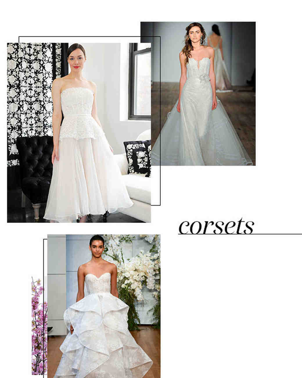 Spring 2018 Bridal Fashion Week Corset Trend