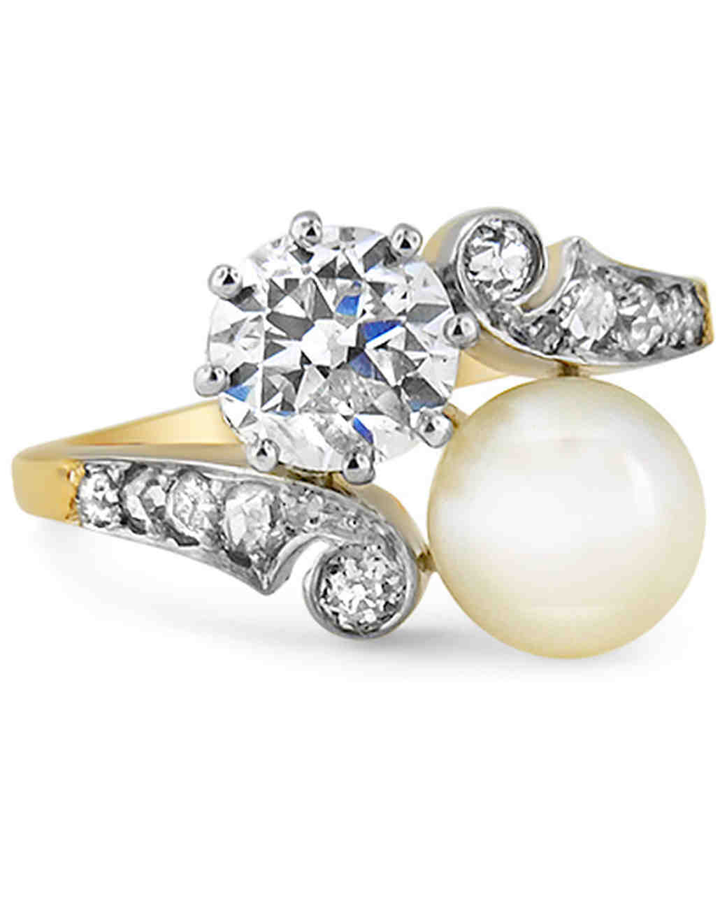 sapphire diamond pearl sets gold wedding engagement ring sea white south pearls