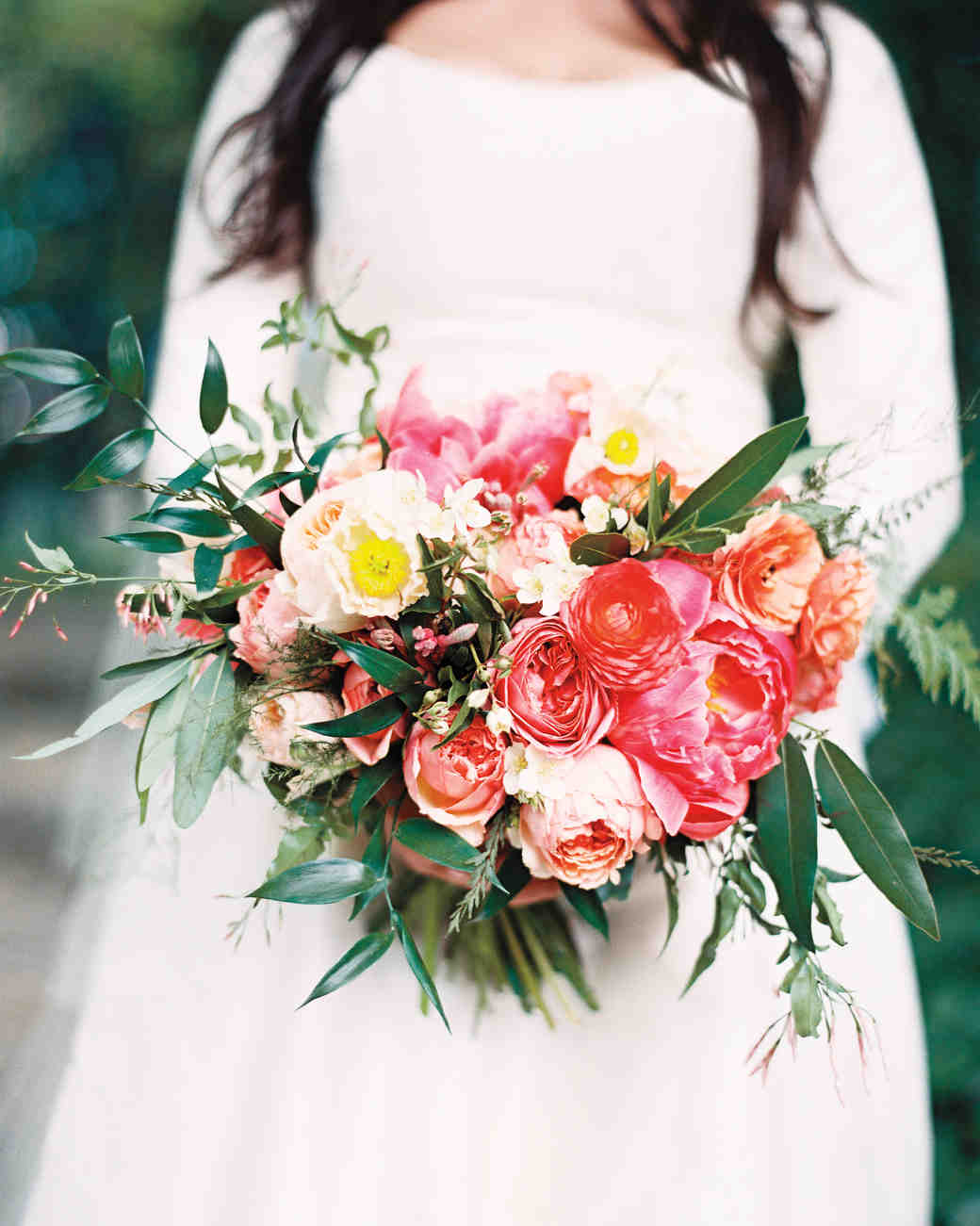 Bright Red and Pink Wedding Bouquet