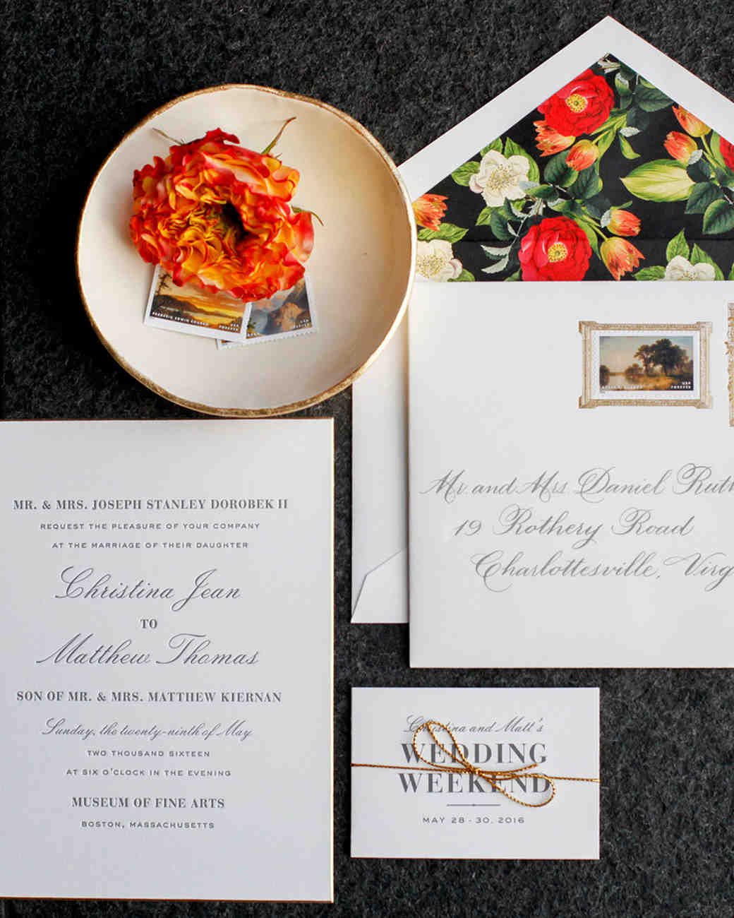 stationery suite invitations