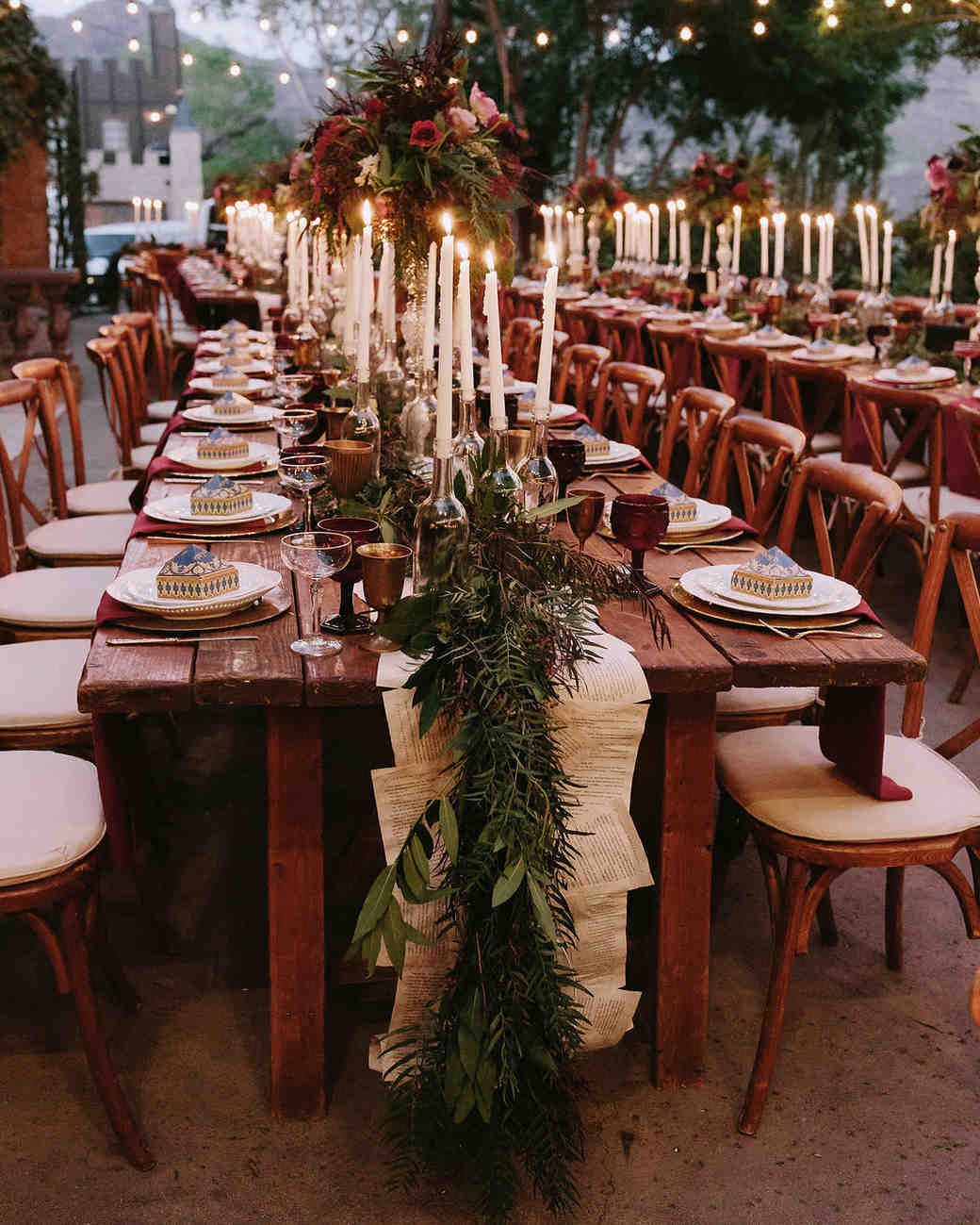 Real Weddings Decorations: Outdoor Wedding Lighting Ideas From Real Celebrations