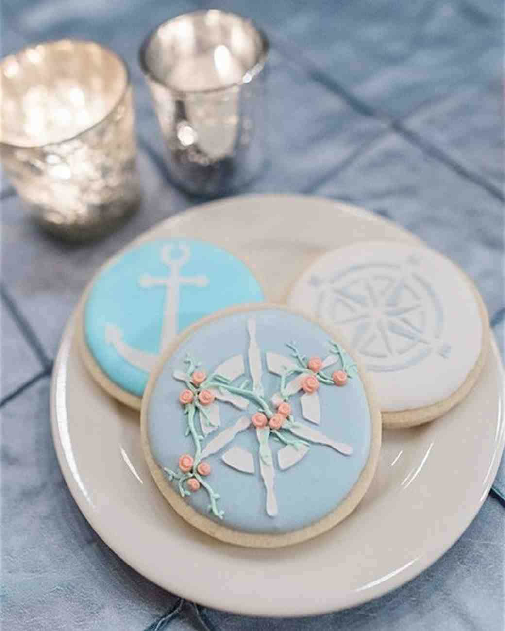 compass wedding ideas nautical desserts