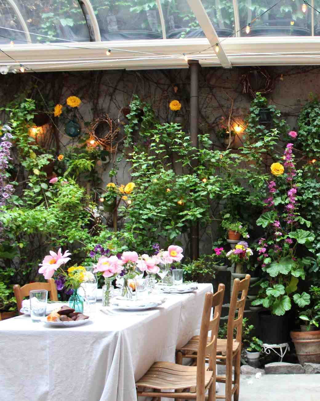 Outdoor Garden Venue for a Bridal Shower