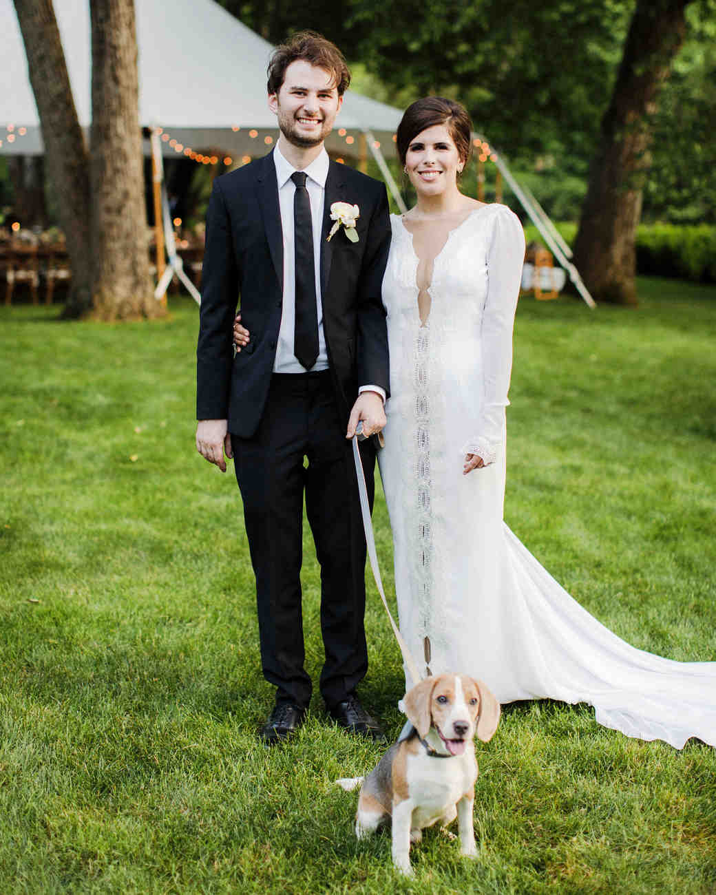 eden jack wedding couple dog