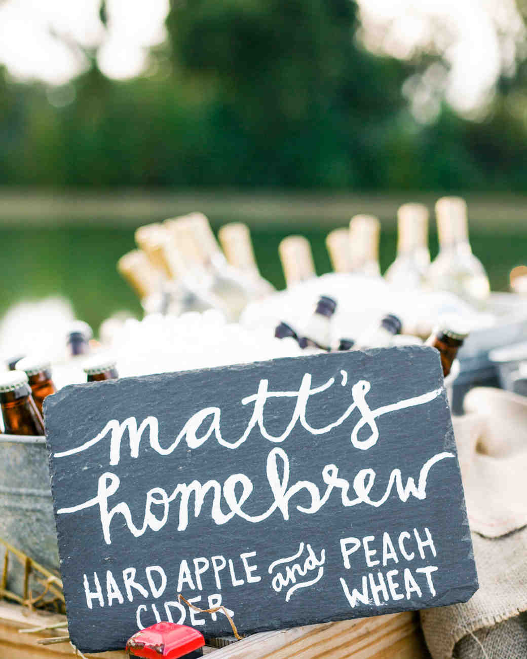 beer wedding favors