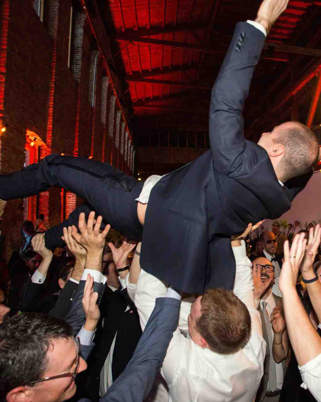 crowd surfing at the reception