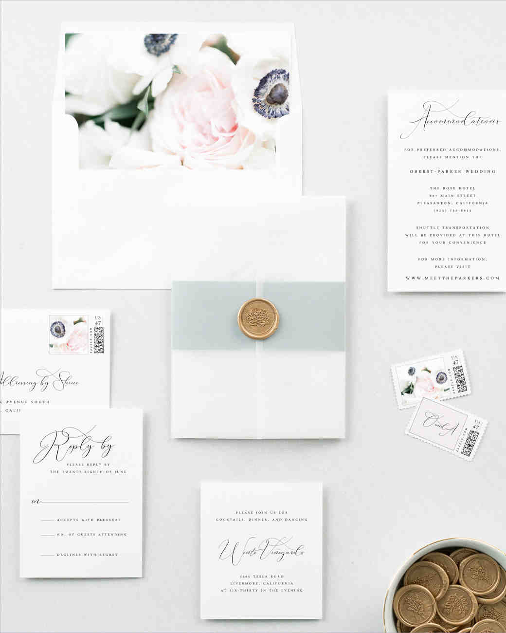 6x9 Wedding Invitation Envelopes: The Prettiest Floral Wedding Invitations